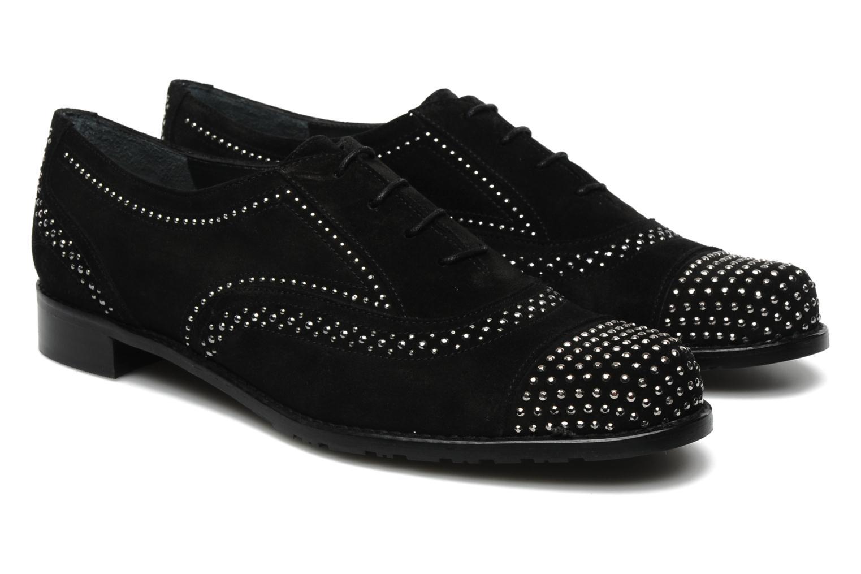 Chaussures à lacets Stuart Weitzman Derby Noir vue 3/4