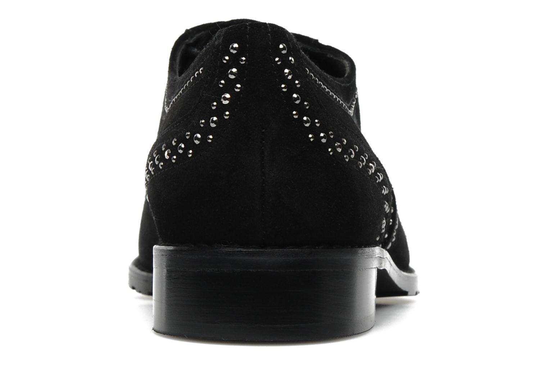Chaussures à lacets Stuart Weitzman Derby Noir vue droite