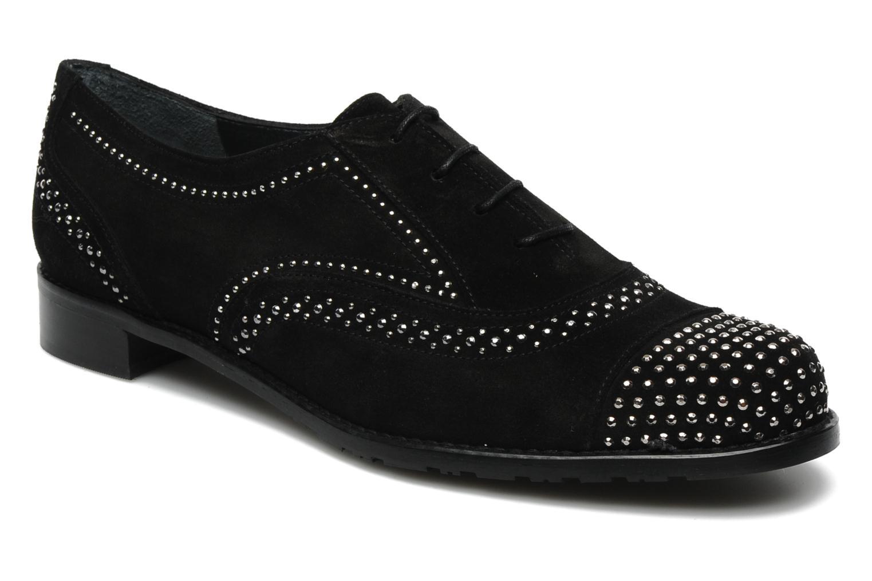 Chaussures à lacets Stuart Weitzman Derby Noir vue détail/paire