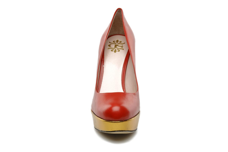 High heels De Siena shoes Elia Red model view