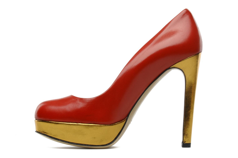 High heels De Siena shoes Elia Red front view