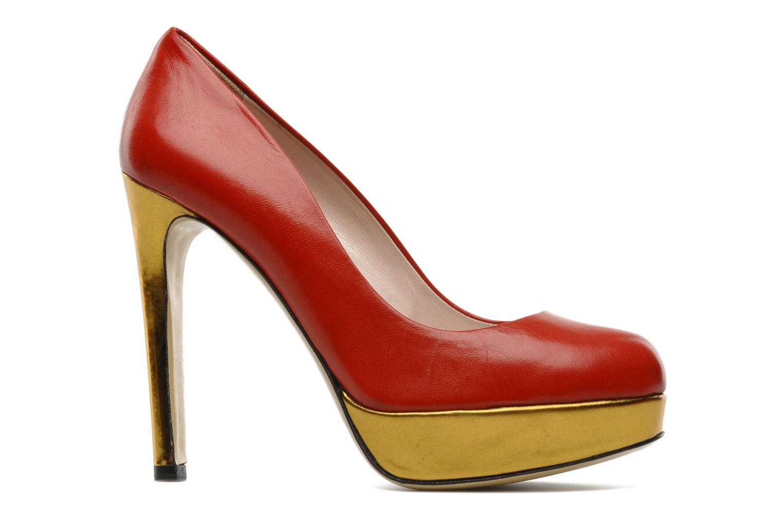 High heels De Siena shoes Elia Red back view