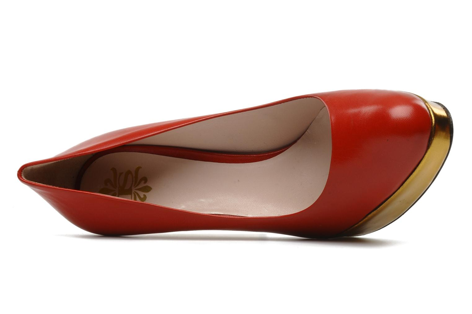 High heels De Siena shoes Elia Red view from the left