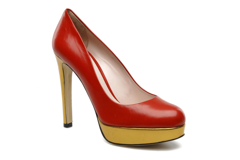 High heels De Siena shoes Elia Red detailed view/ Pair view