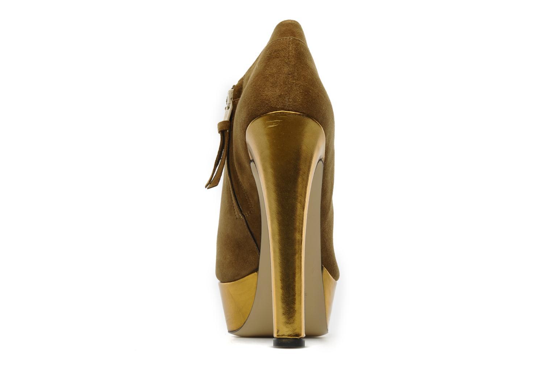 Stivaletti e tronchetti De Siena shoes Amalia Beige immagine destra