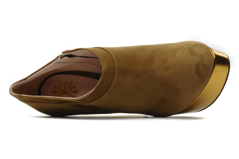 Stivaletti e tronchetti De Siena shoes Amalia Beige immagine sinistra