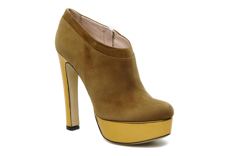 Ankle boots De Siena shoes Amalia Beige detailed view/ Pair view