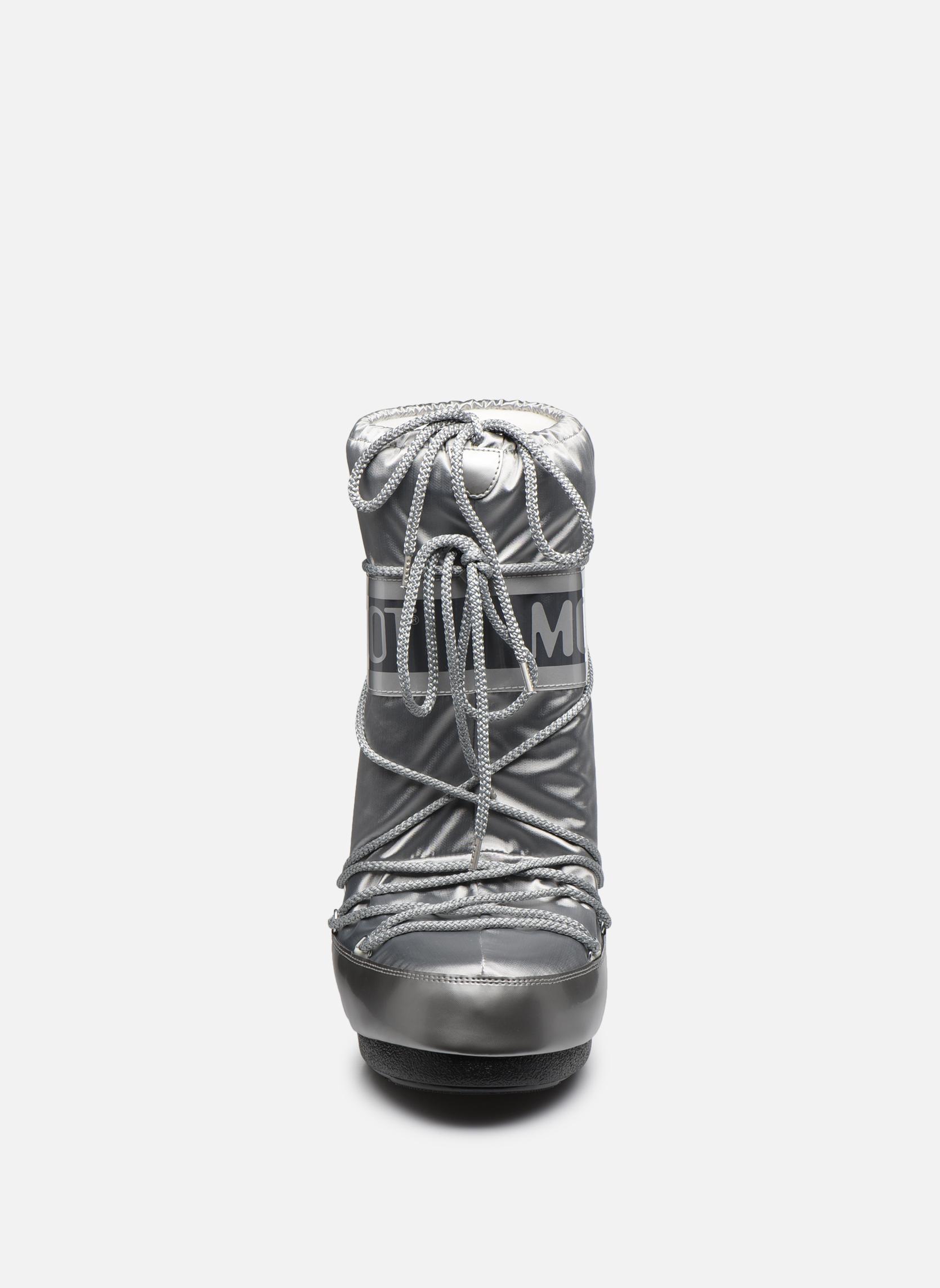 Chaussures de sport Moon Boot Glance Argent vue portées chaussures