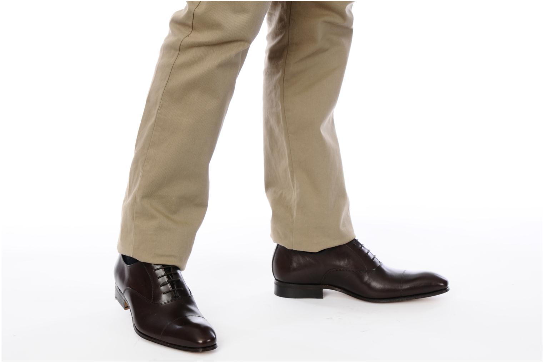 Chaussures à lacets Marvin&Co Parvanete Noir vue bas / vue portée sac