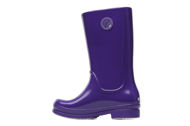 Boots & wellies Crocs Wellie Patent Rain boot Girls Purple front view
