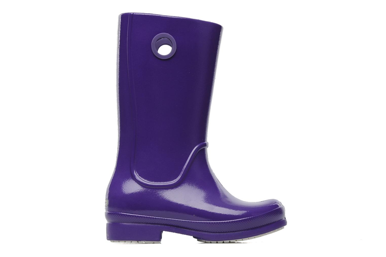 Boots & wellies Crocs Wellie Patent Rain boot Girls Purple back view
