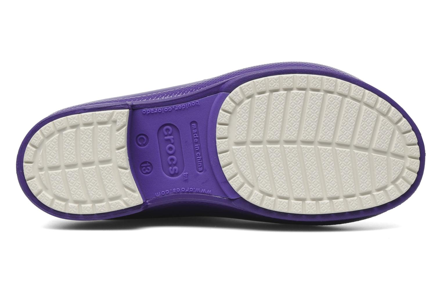 Boots & wellies Crocs Wellie Patent Rain boot Girls Purple view from above
