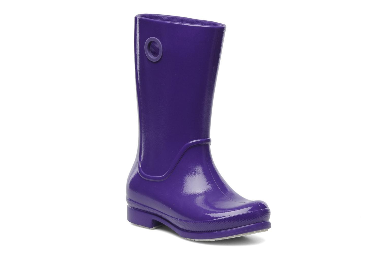 Boots & wellies Crocs Wellie Patent Rain boot Girls Purple detailed view/ Pair view