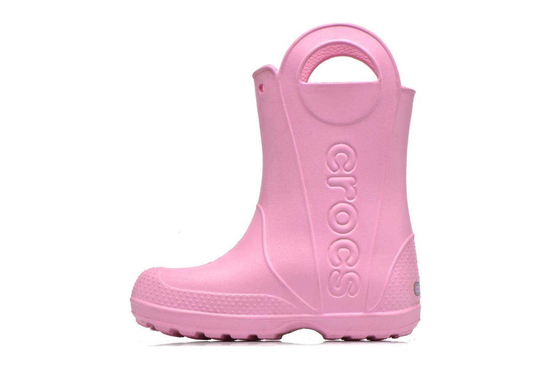 Bottes Crocs Handle it Rain Boot kids Rose vue face
