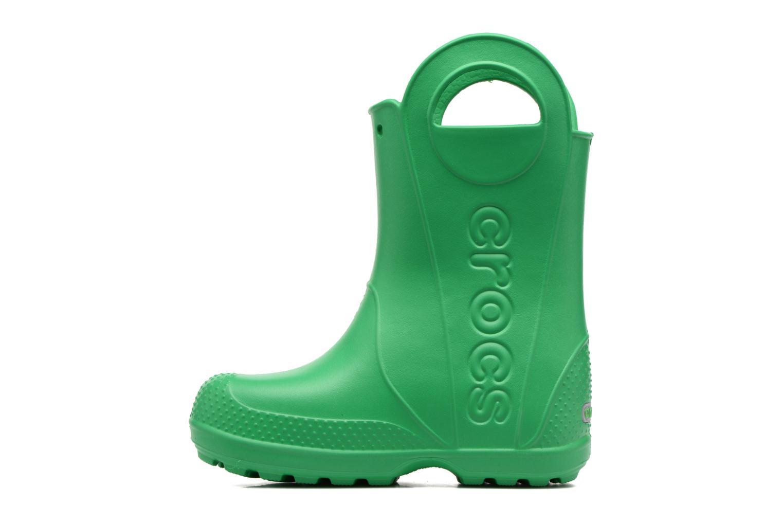 Bottes Crocs Handle it Rain Boot kids Vert vue face