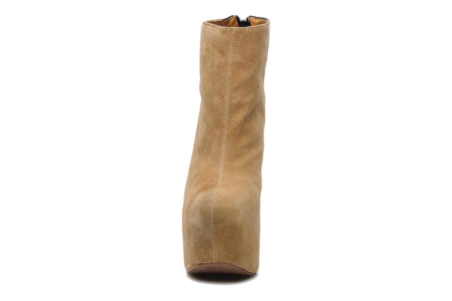 Bottines et boots Jeffrey Campbell NITEMATE (WITH GOLD STAR) Beige vue portées chaussures