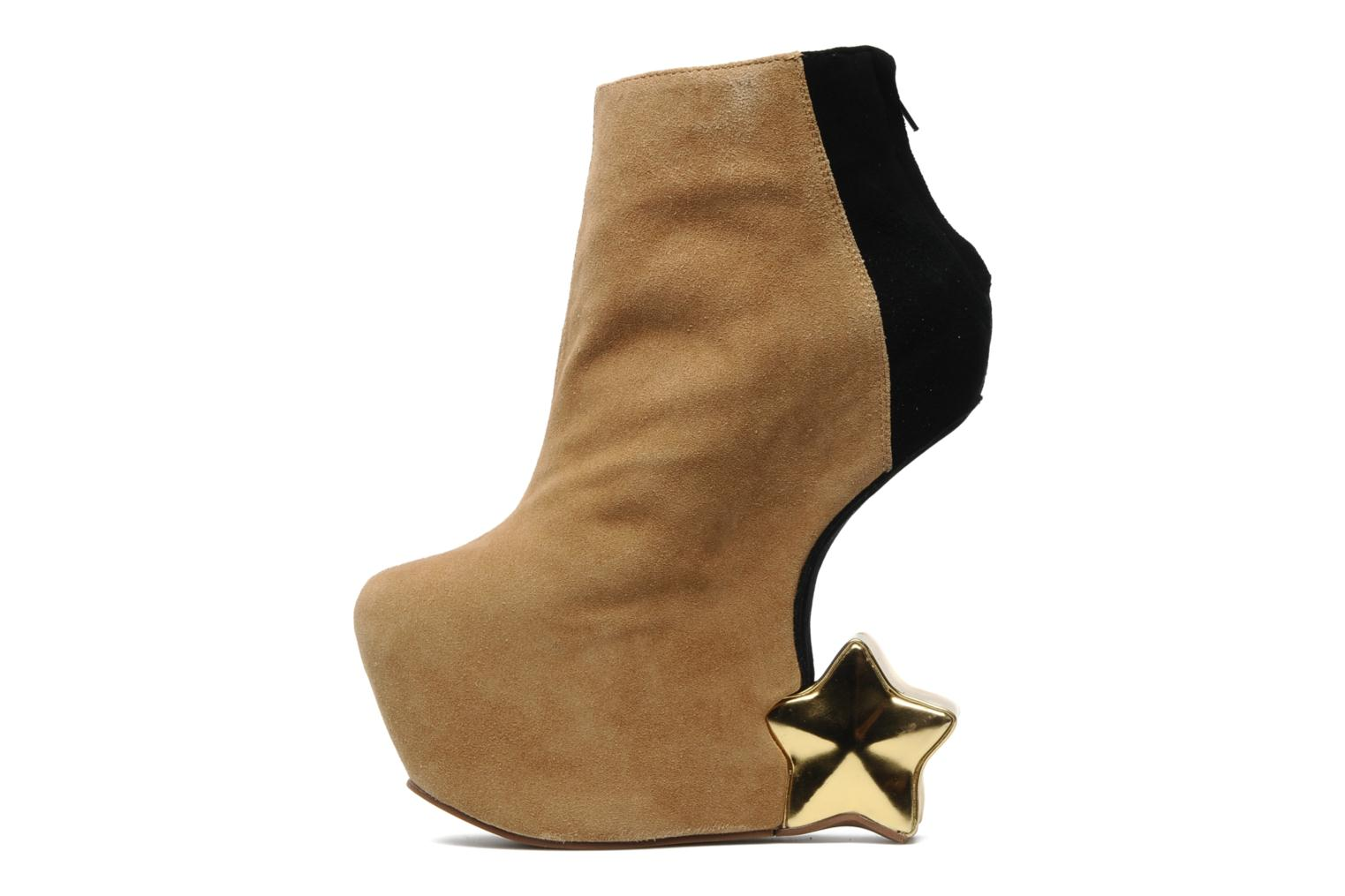 Bottines et boots Jeffrey Campbell NITEMATE (WITH GOLD STAR) Beige vue face