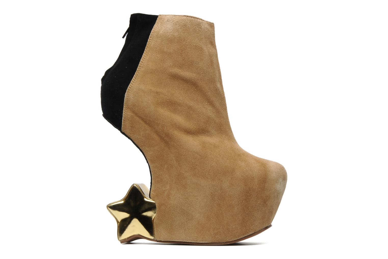 Bottines et boots Jeffrey Campbell NITEMATE (WITH GOLD STAR) Beige vue derrière
