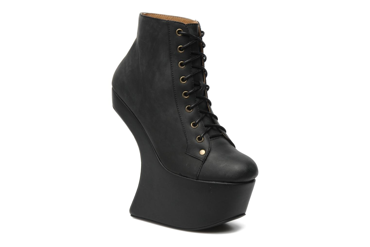 Ankle boots Jeffrey Campbell NiteLita Black detailed view/ Pair view