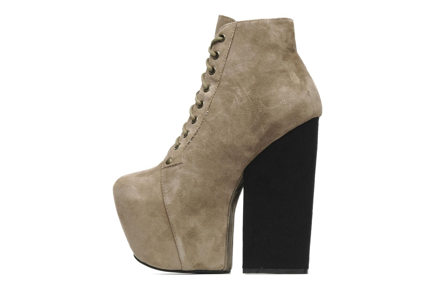 Bottines et boots Jeffrey Campbell FREDA Beige vue face
