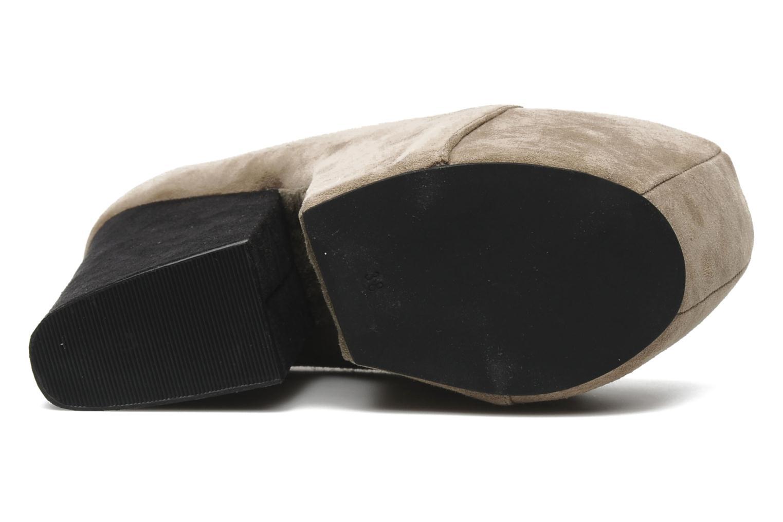 FREDA TAUPE SUEDE/BLACKL SUEDE HEEL