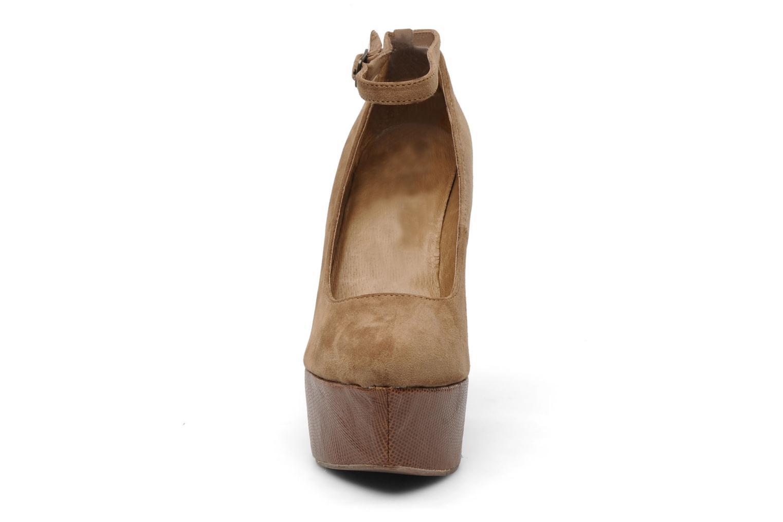 Escarpins Jeffrey Campbell PIZAN Marron vue portées chaussures