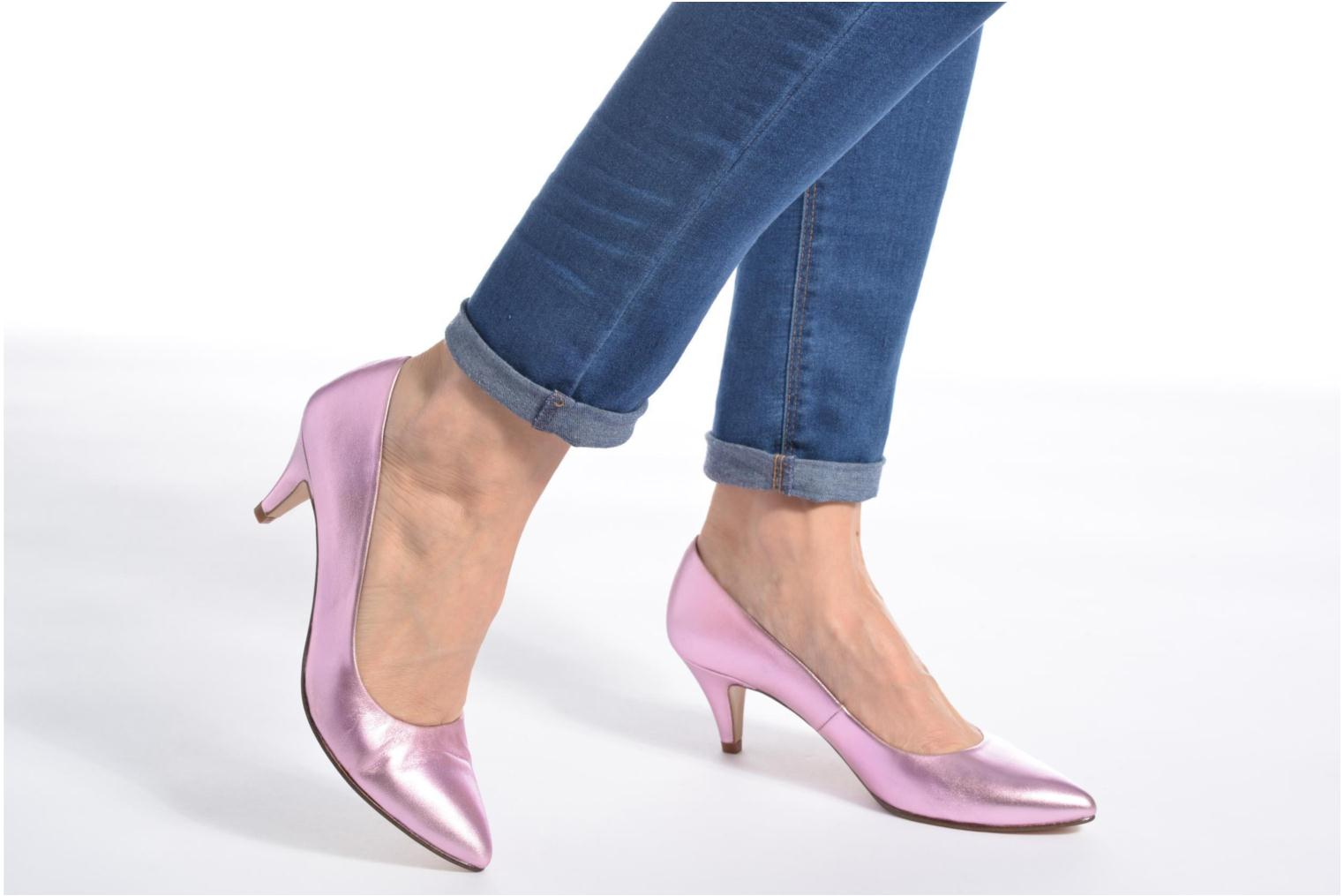 High heels Anna Volodia Ana Pink view from underneath / model view
