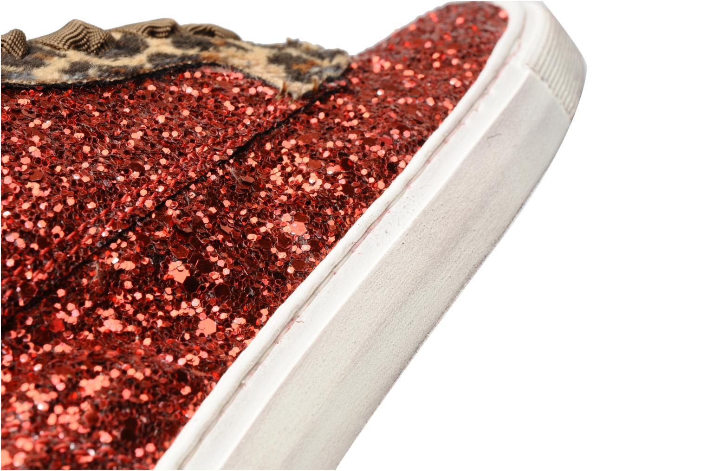 Baskets Ylati Sibilla Glitter Rouge vue 3/4