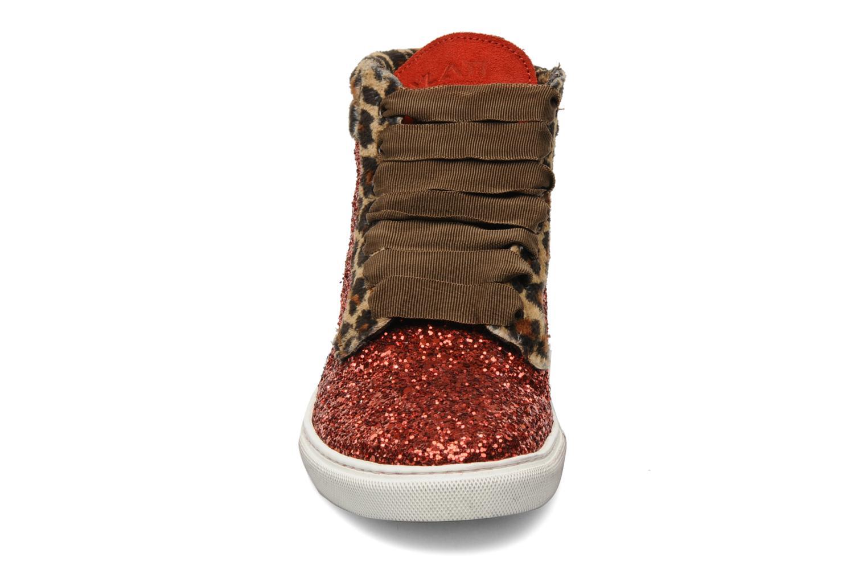Baskets Ylati Sibilla Glitter Rouge vue portées chaussures