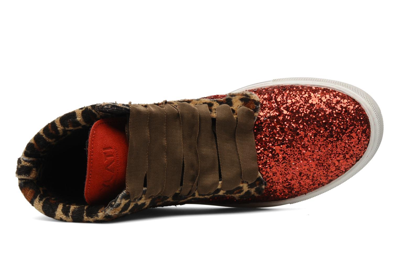 Baskets Ylati Sibilla Glitter Rouge vue gauche