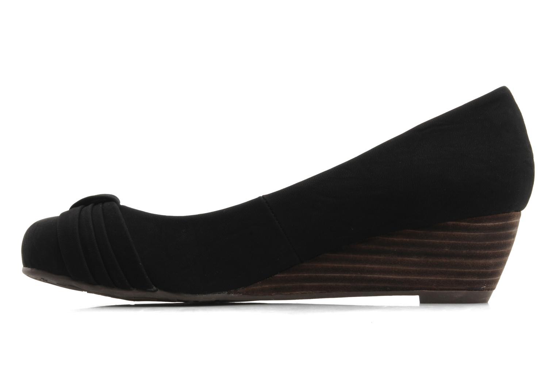 Ballerinas Refresh Jordanne schwarz ansicht von vorne