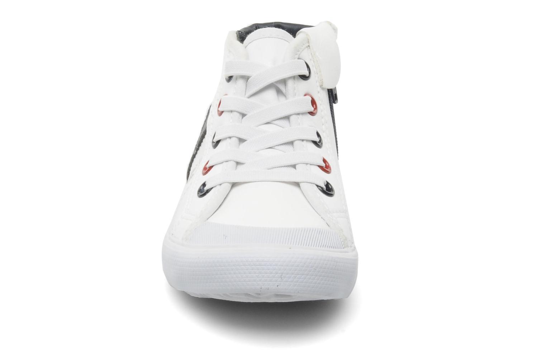 Sneaker Le Coq Sportif SAINT MALO MID SYN INF weiß schuhe getragen