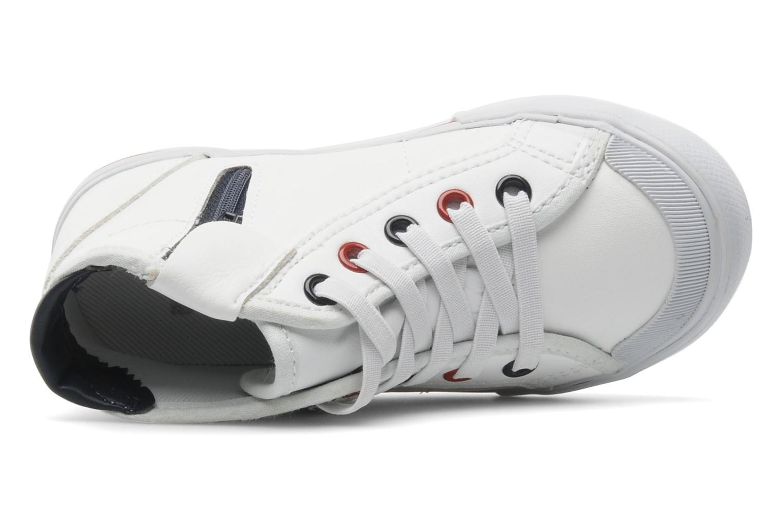 Sneaker Le Coq Sportif SAINT MALO MID SYN INF weiß ansicht von links