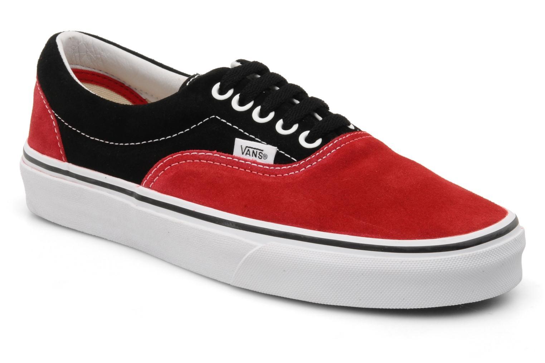 vans rouge noire et blanche
