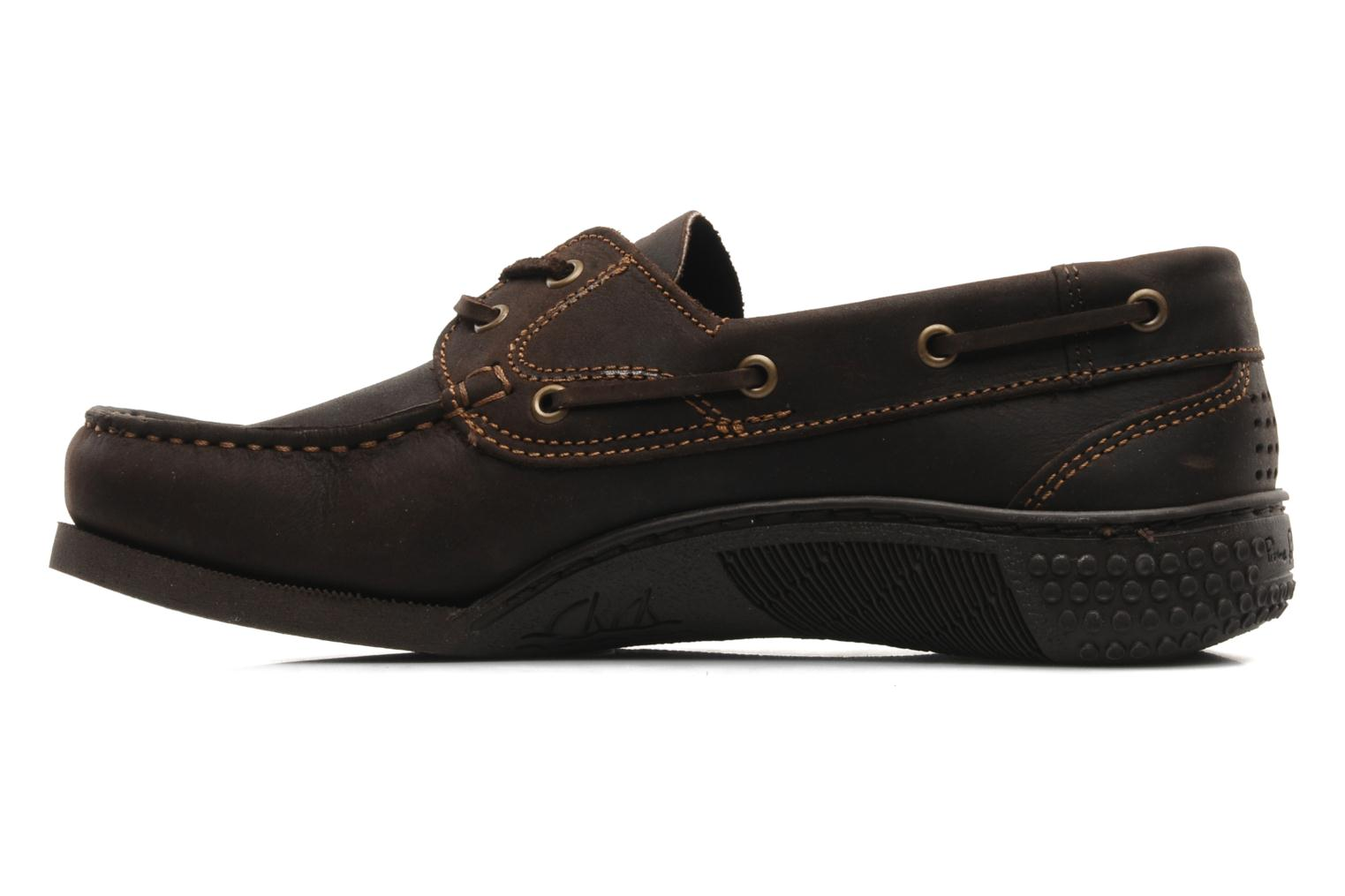 Lace-up shoes TBS Hauban Brown front view
