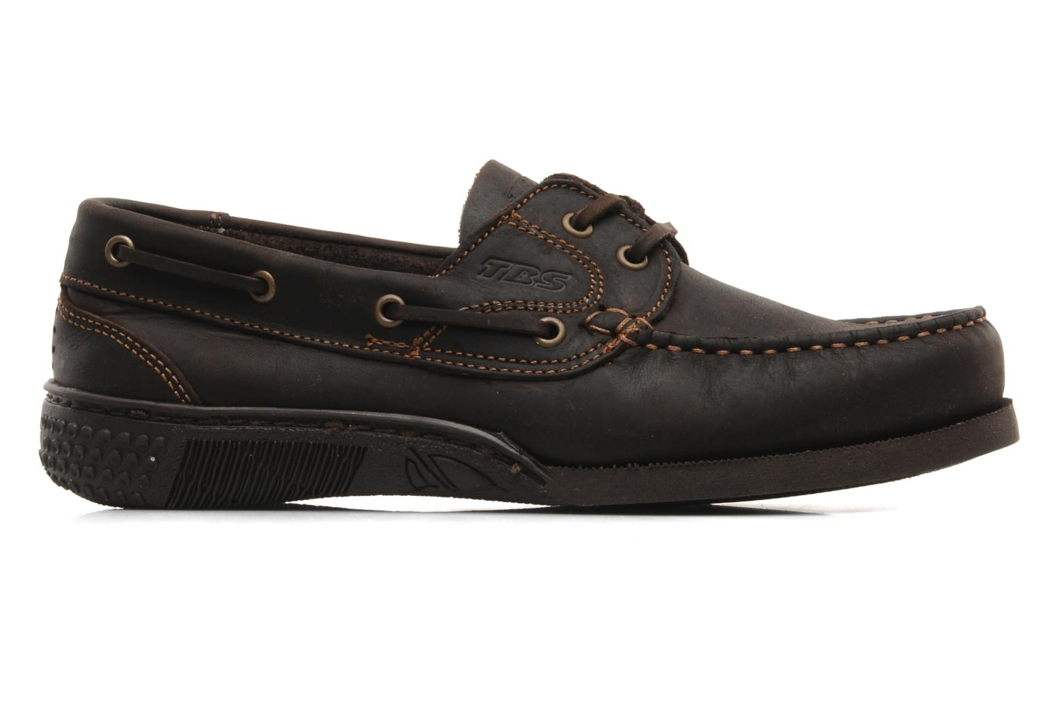 Lace-up shoes TBS Hauban Brown back view