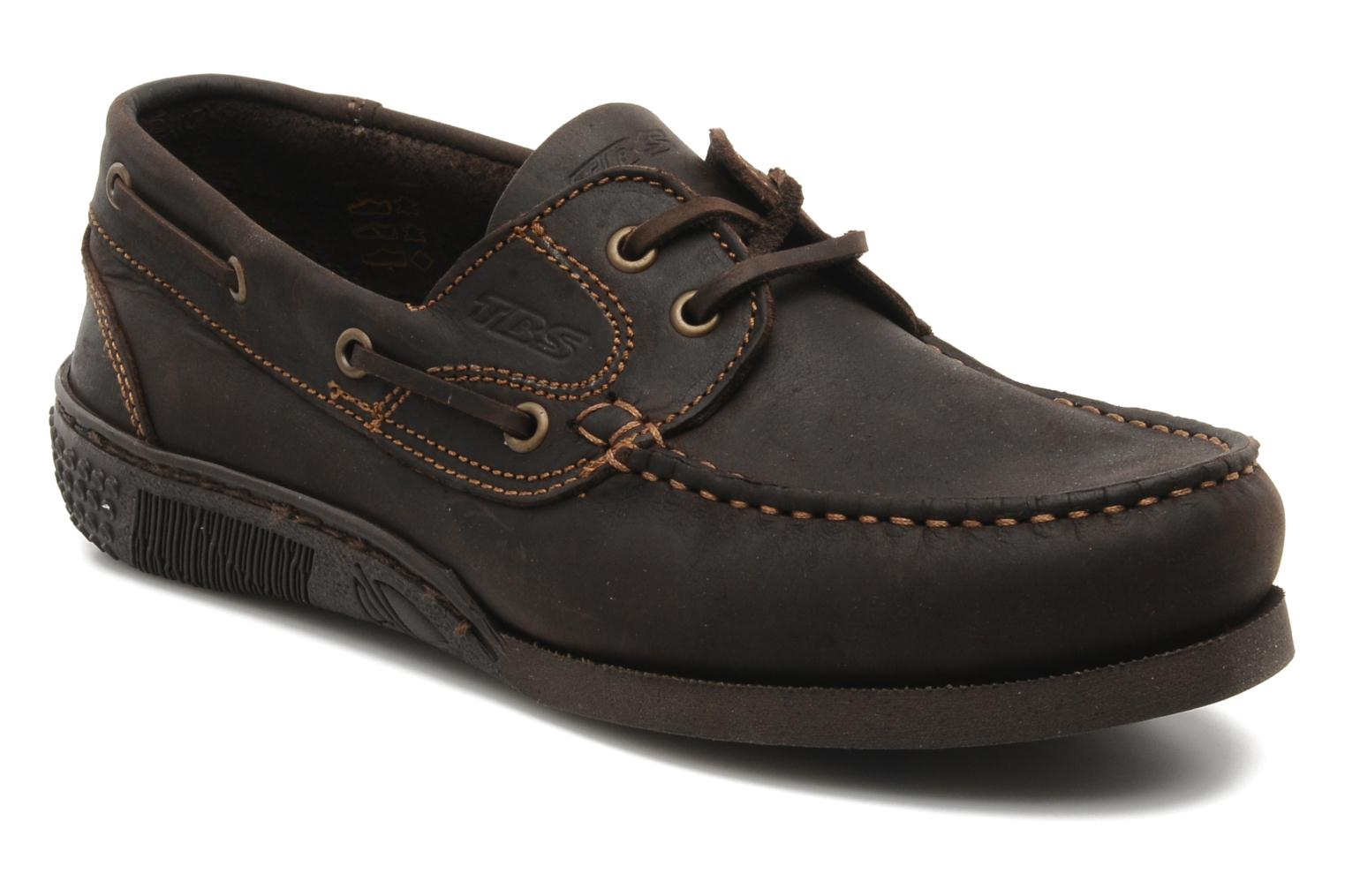 Lace-up shoes TBS Hauban Brown detailed view/ Pair view