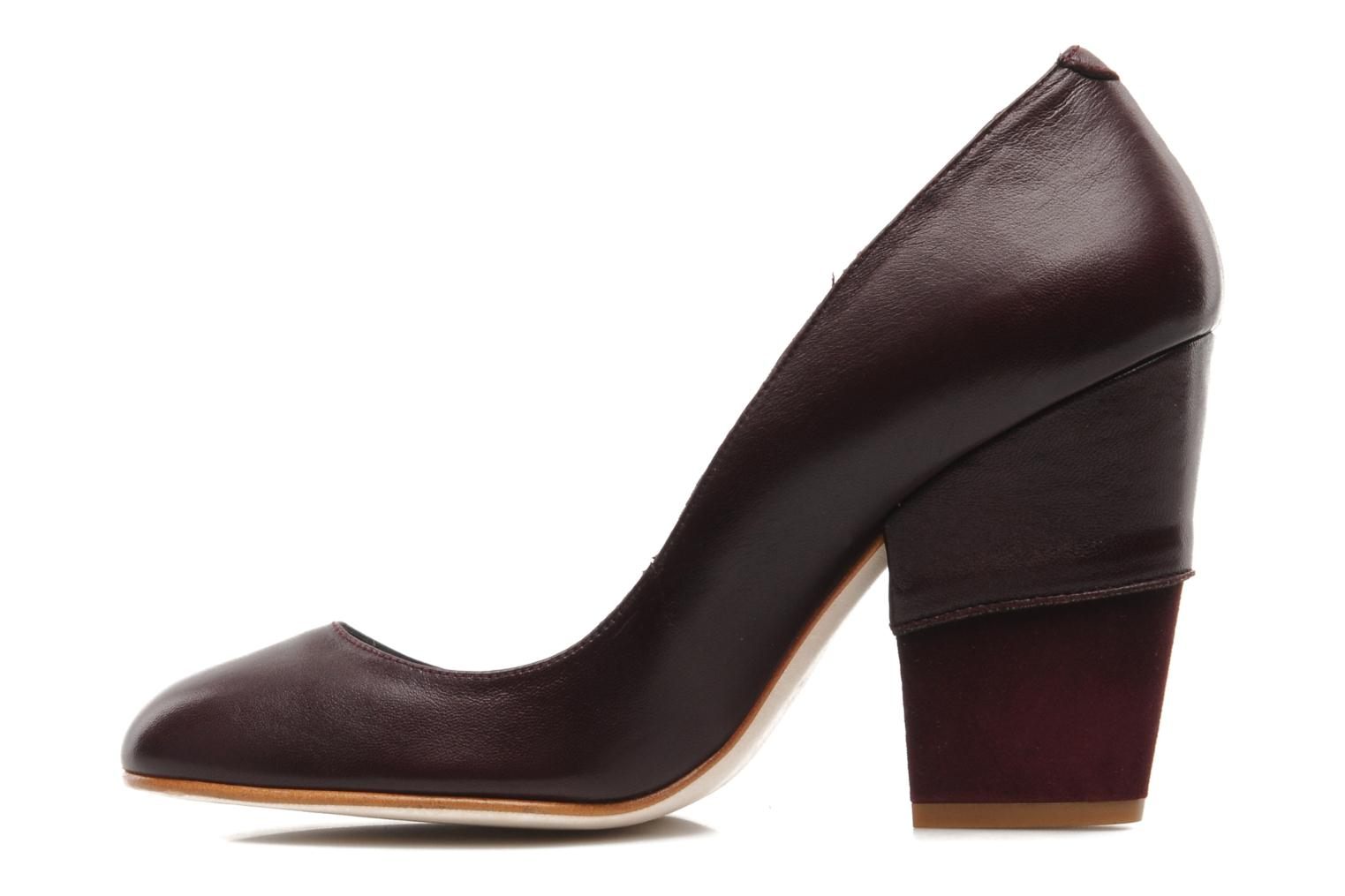 High heels Patricia Blanchet Jacquotte Burgundy front view