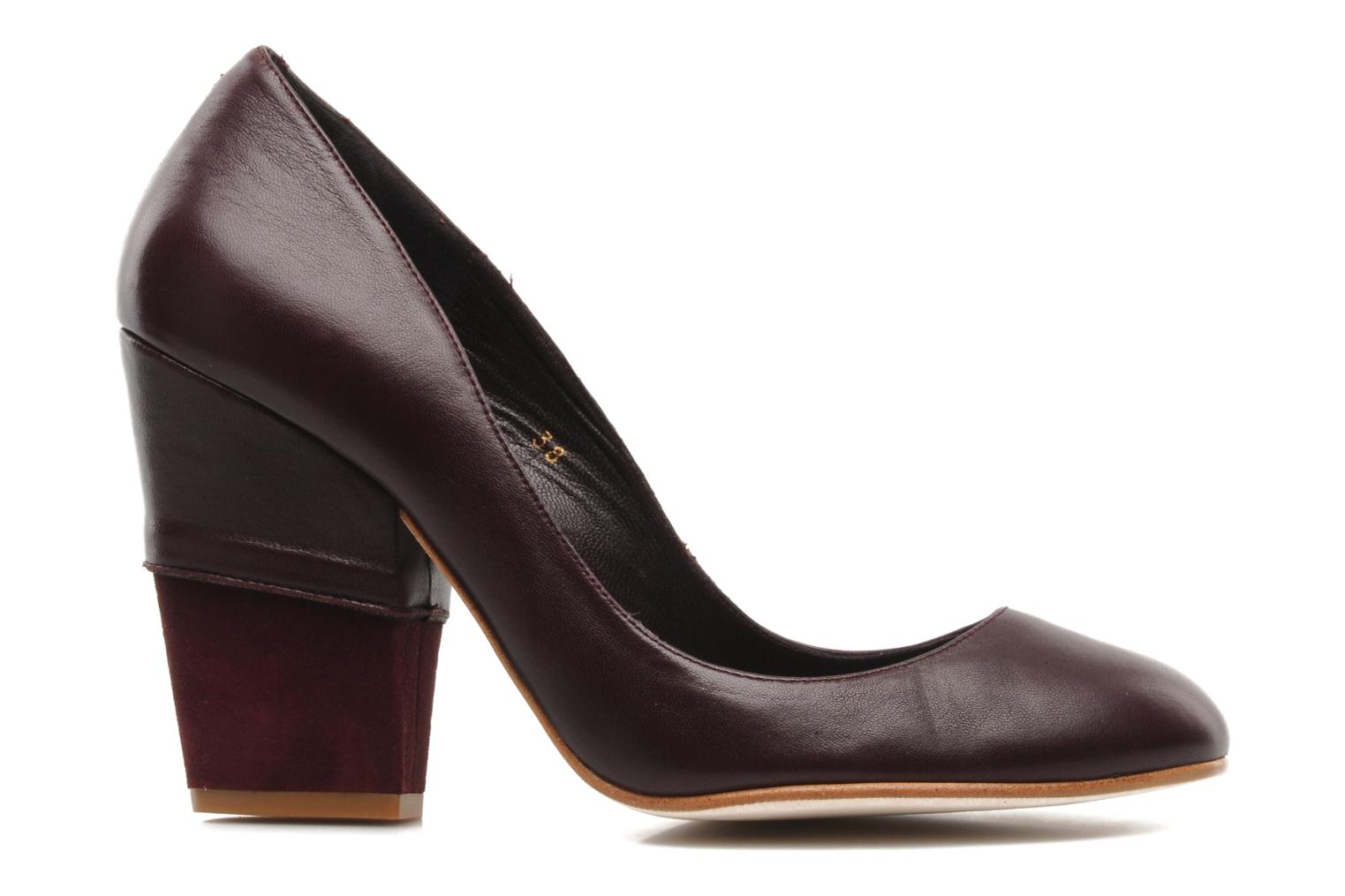 High heels Patricia Blanchet Jacquotte Burgundy back view