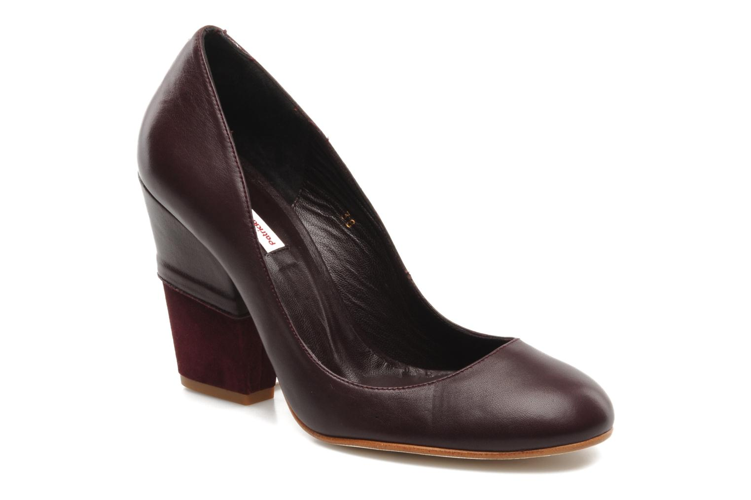 High heels Patricia Blanchet Jacquotte Burgundy detailed view/ Pair view