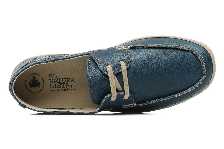 Chaussures à lacets El Naturalista Estratos No342 Bleu vue gauche