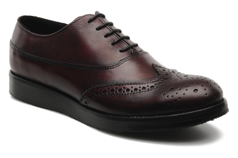 Chaussures à lacets Marc O'Polo Astriide Bordeaux vue détail/paire