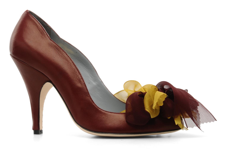 High heels Fred Marzo Kristin Burgundy back view