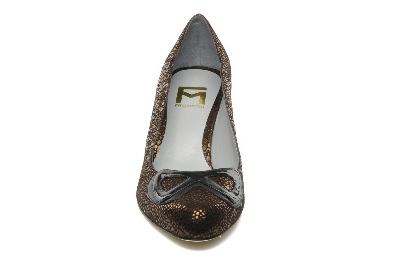 Escarpins Fred Marzo Betty Marron vue portées chaussures