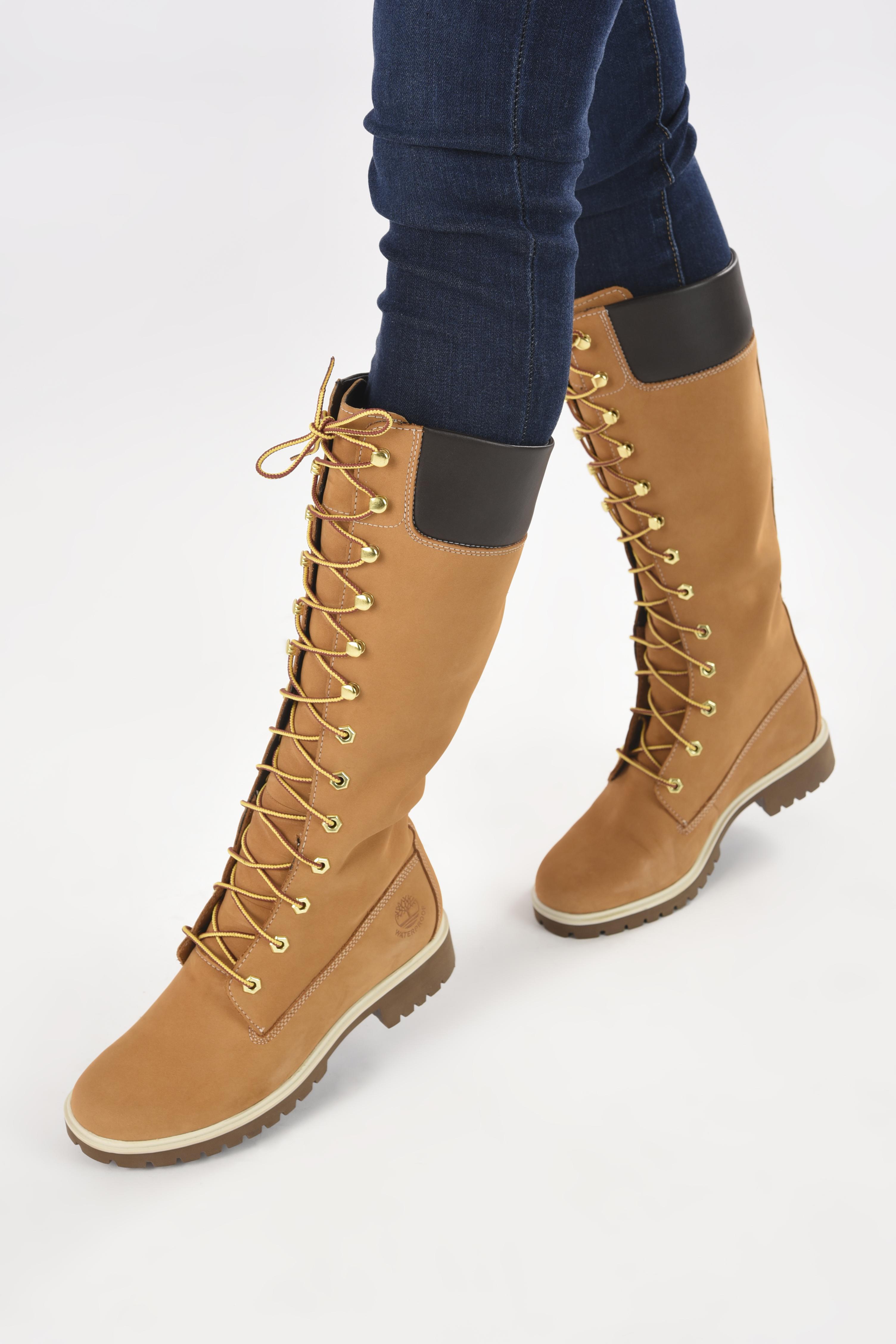 Bottes Timberland Women's Premium 14 inch Jaune vue bas / vue portée sac