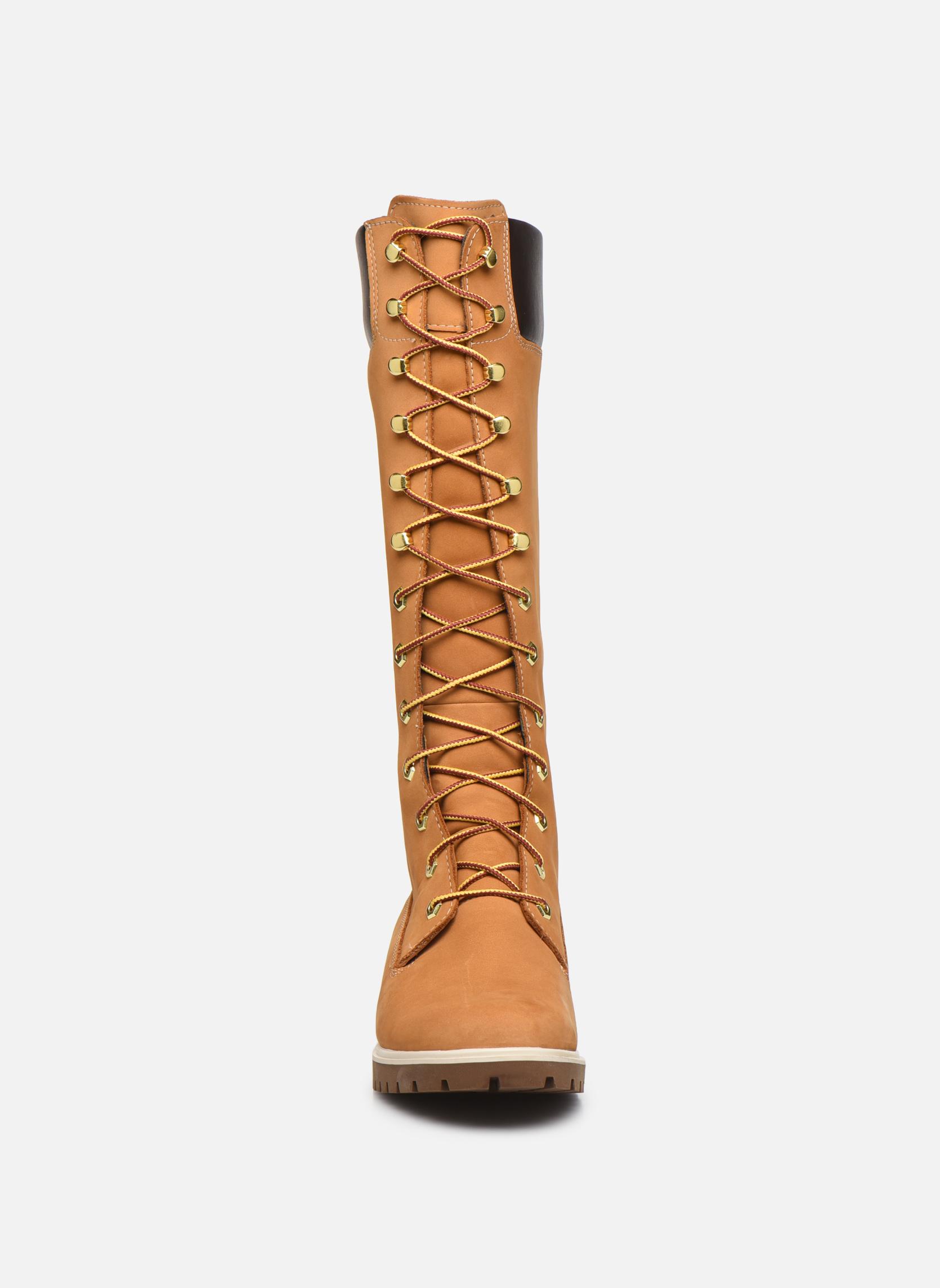 Bottes Timberland Women's Premium 14 inch Jaune vue portées chaussures