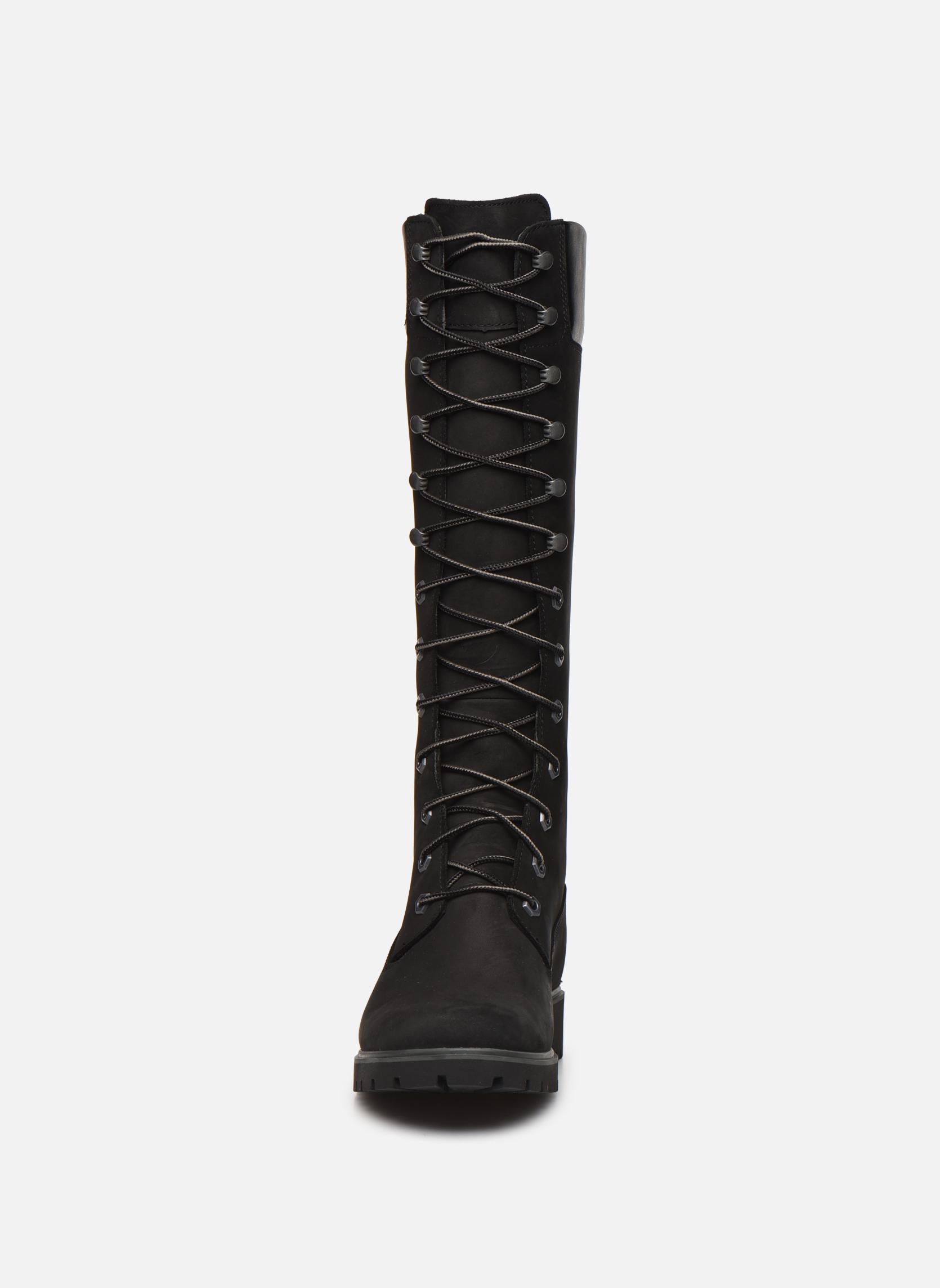 Women's Premium 14 inch Black Nubuck