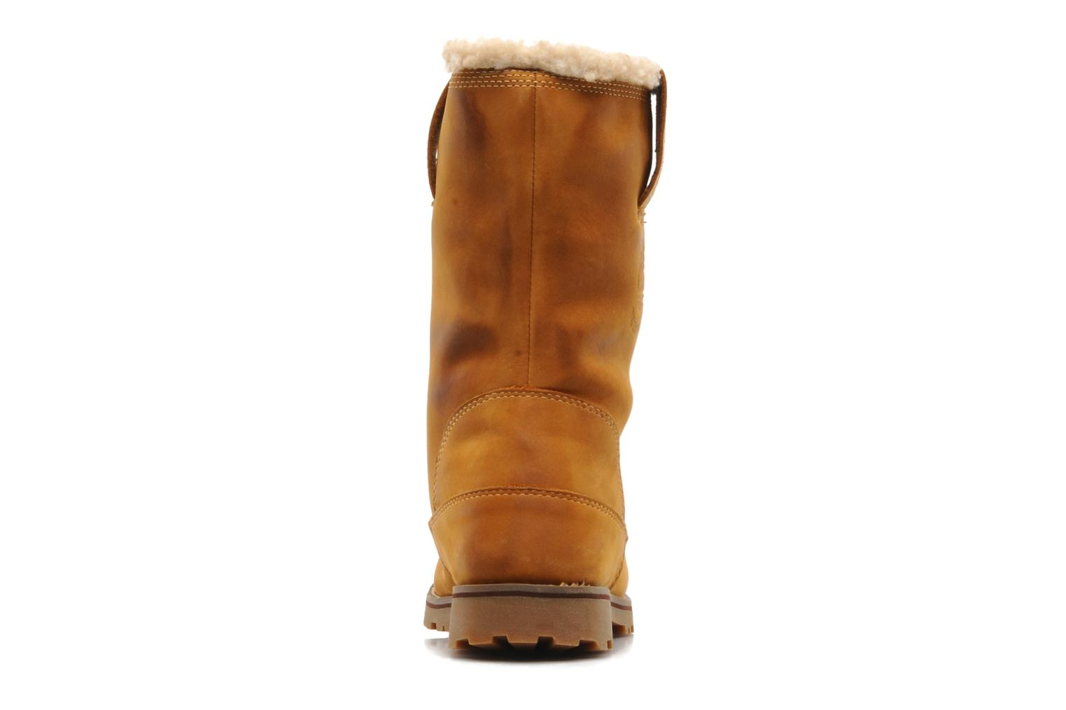 8 In Pull On WP Boot with Shearling Wheat Nubuck Burnish