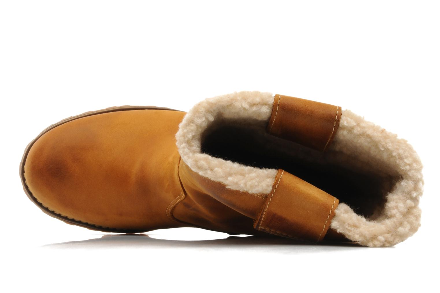 Stiefel Timberland 8 In Pull On WP Boot with Shearling braun ansicht von links