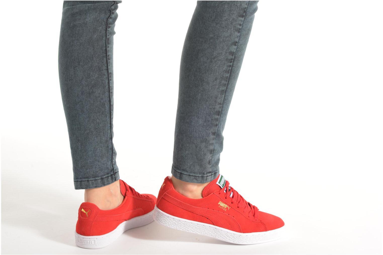 Sneaker Puma Suede classic eco W blau ansicht von unten / tasche getragen